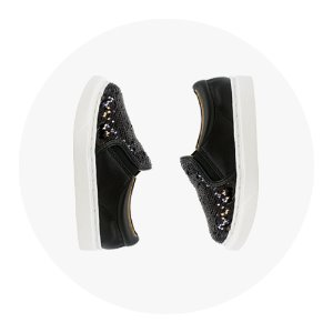 SPANGLE SLIPON-BLACK