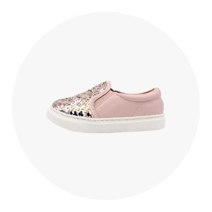 SPANGLE SLIPON-ROSEGOLD